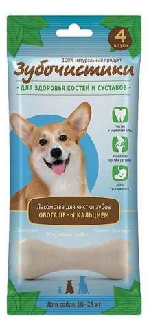 Деревенские лакомства Зубочистки кальциевые для собак средних пород 90г