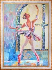 Балерина - картина из пайеток