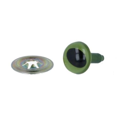 Глаза CAE-7-5 c кошачьим зрачком с шайбами d 7.5 мм