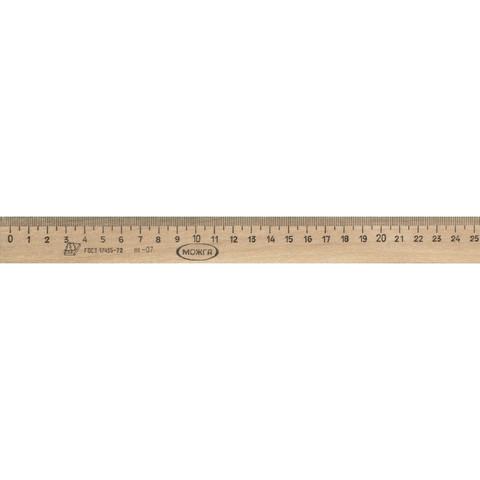 Линейка Можга деревянная 25 см