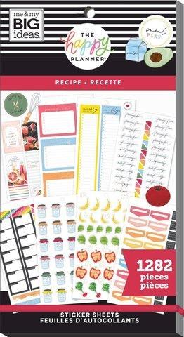 Блокнот со стикерами для ежедневника Create 365 Happy Planner Sticker Value Pack-BIG - recipe, 1282 шт