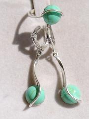 Галатея (кольцо + серьги из серебра)