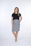 Платье для беременных и кормящих 09836 белая полоса