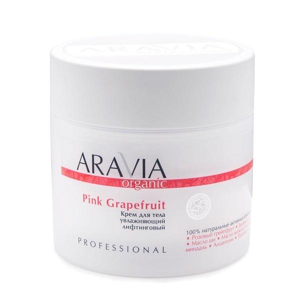 Крем для тела увлажняющий лифтинговый Aravia Organic Pink Grapefruit 300мл