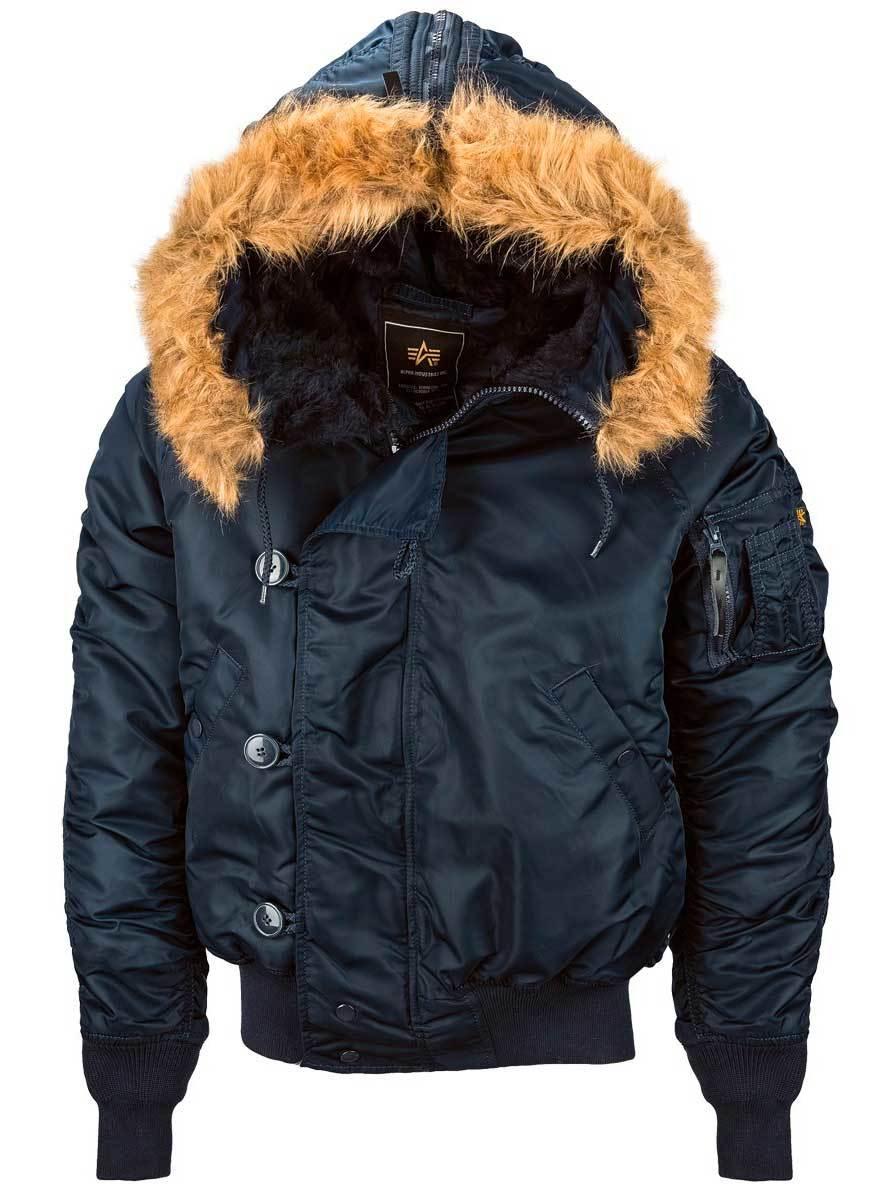Куртка Мужская Alpha N-2B Flight Jacket (т.синяя - r.blue)