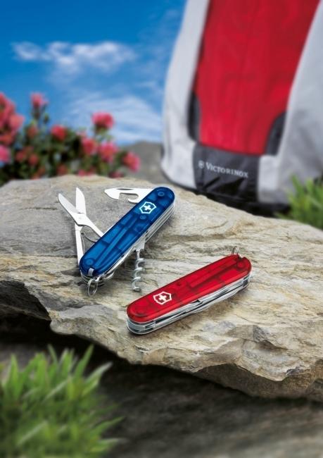 Складной нож Victorinox Climber Blue Trans (1.3703.T2) 91 мм., 14 функций, полупрозрачный синий