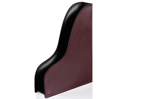 Лоток А4 вертикальный PREMIUM из кожи  Full Grain Brown/Cuoietto черный