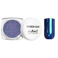 ruNail, Зеркальная пыль для втирки с аппликатором, Mirror Dust, синяя