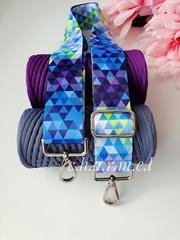 Голубые треугольники Ремень для сумки