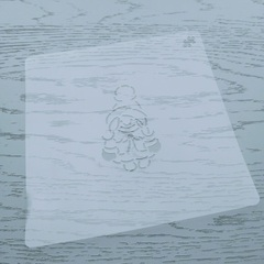 Трафарет Сказочная Снегурочка форма для пряника, мастики, печенья
