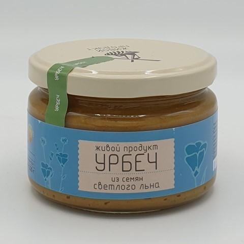 Урбеч из семян светлого льна ЖИВОЙ ПРОДУКТ, 225 гр