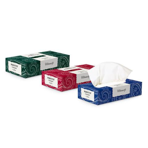 Салфетки косметические Aster Perfetto 4-слойные (40 штук в упаковке)