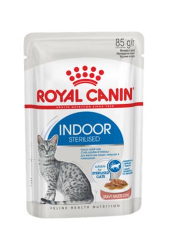 Royal Canin  Indoor Sterilised Gravy Кусочки в соусе для домашних кошек 1-7 лет (85 г)