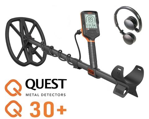 Металлоискатель Quest Q30+ беспроводные наушники