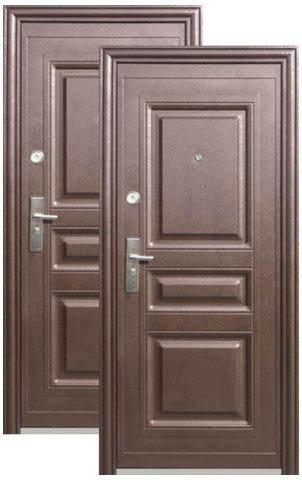 Дверь входная Кайзер К 700-2, 2 замка, 0,8 мм  металл, (медь антик+медь антик)