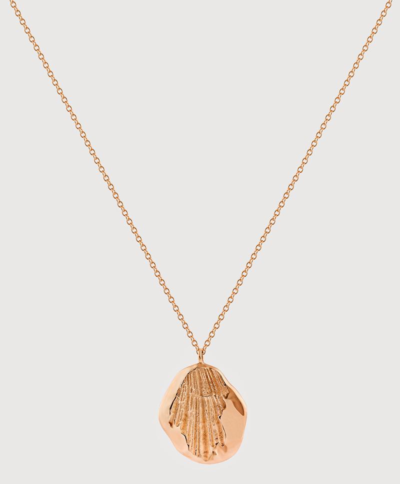 Серебряная крупная подвеска с золотым покрытием и отпечатком