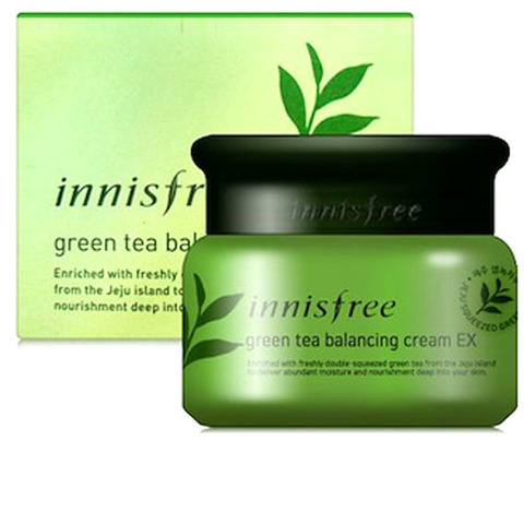 Крем для лица с экстрактом зеленого чая Innisfree Green Tea Balancing Cream EX