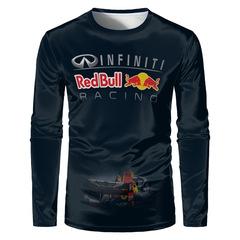 Футболка с длинным рукавом 3D принт, с логотипом Инфинити Red Bull, racing (3Д  Infiniti, Рэд Бул, Рейсинг) 01