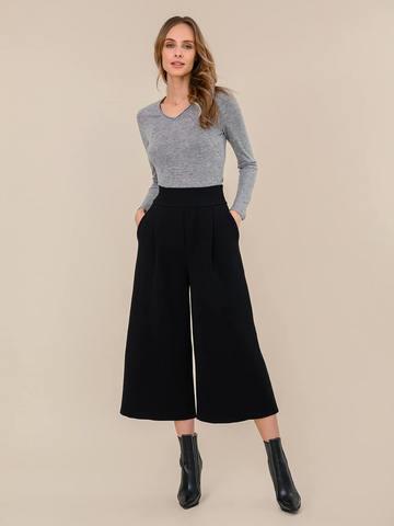 Женский джемпер светло-серого цвета из 100% шерсти - фото 5