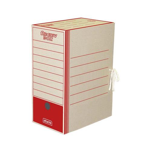 Короб архивный картон красный 325x260x150 мм