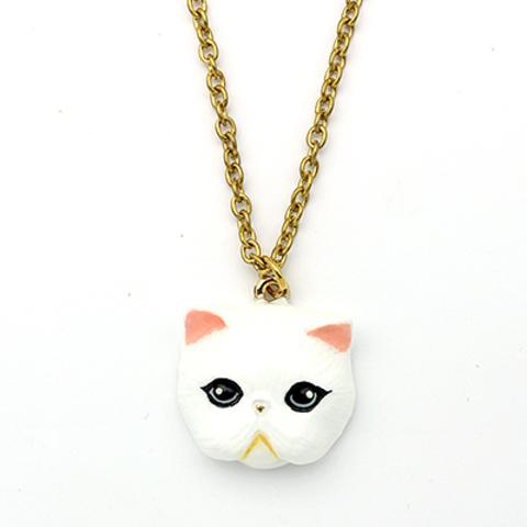 Колье Персидская Кошка (белая)