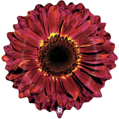 Фигура Цветок Гербера бордовая