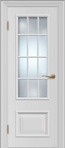 Межкомнатная дверь Louisa 19.2 под стекло (Английская решетка)