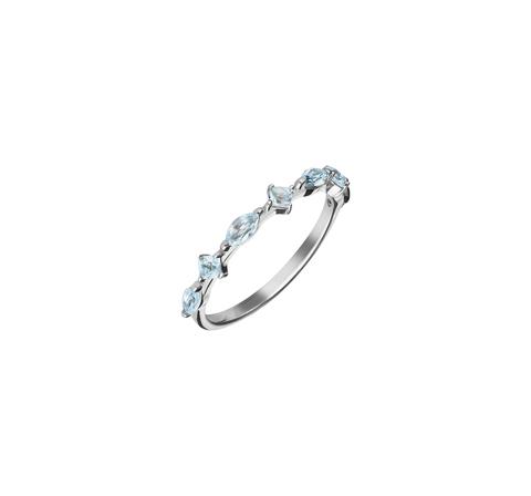 Кружевное кольцо с голубыми топазами