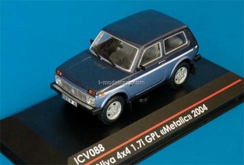 VAZ-21214 Lada Niva 4x4 1.7i GPL metalic blue 1:43 ICV088