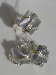Тату (кольцо + серьги из серебра)
