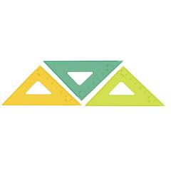 Треугольник Стамм (7 см, пластик, 45 градусов)