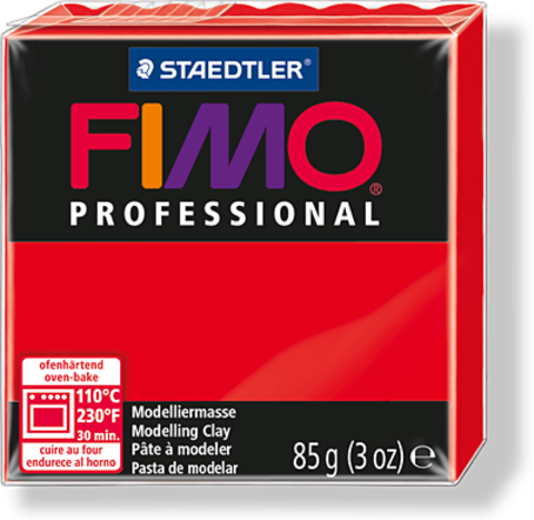 Fimo Professional цвет чисто-красный