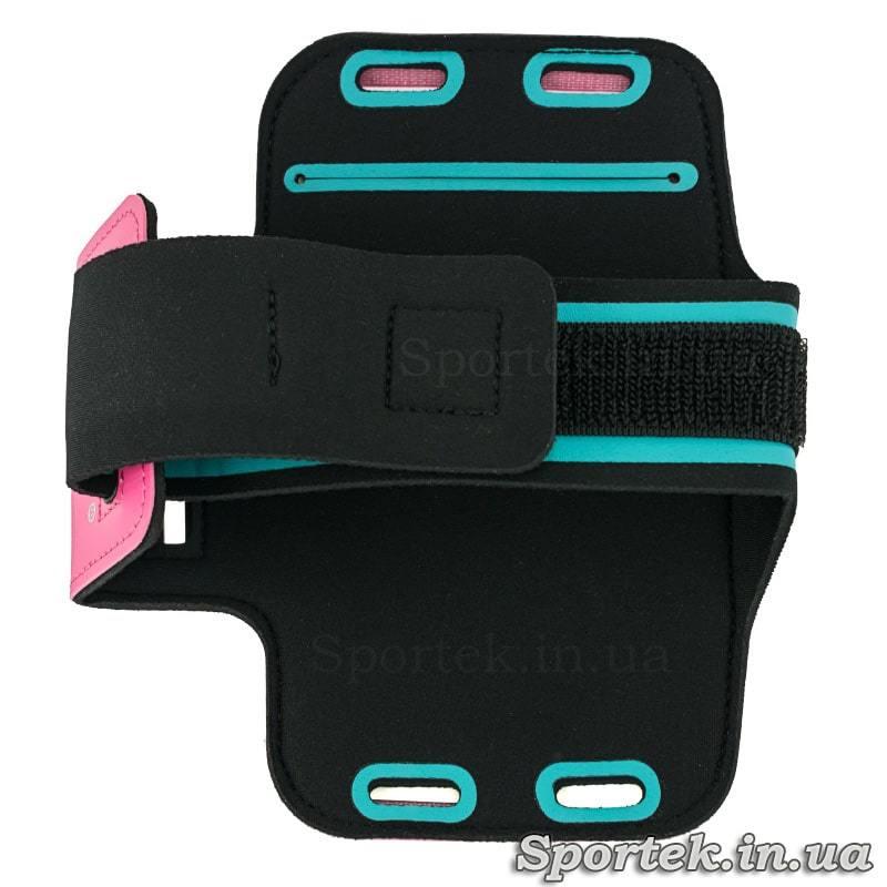 Вид сзади чехла ROMIX для смартфона на руку