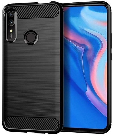 Чехол Huawei P Smart Z (Y9 Prime 2019, Enjoy10 Plus, 9X Premium) цвет Black (черный), серия Carbon, Caseport