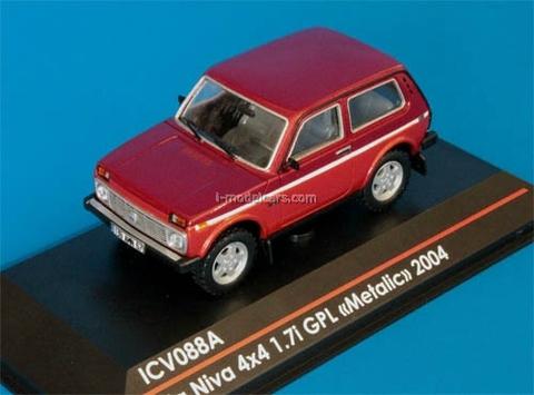 VAZ-21214 Lada Niva 4x4 1.7i GPL metalic red 1:43 ICV088A