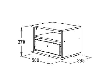 Тумба прикроватная с 1 ящиком