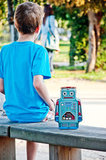 Ланч-бокс для еды Robot стальной Suck UK SK LUNCHBOT1 | Купить в Москве, СПб и с доставкой по всей России | Интернет магазин www.Kitchen-Devices.ru