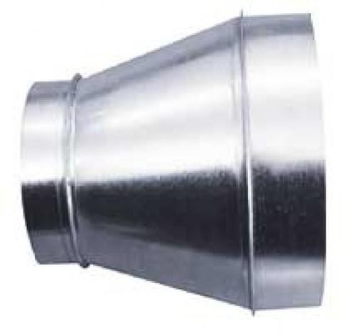 Переход 100х125 оцинкованная сталь
