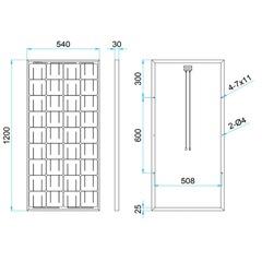 Размеры солнечной панели DELTA SM 100-12 M