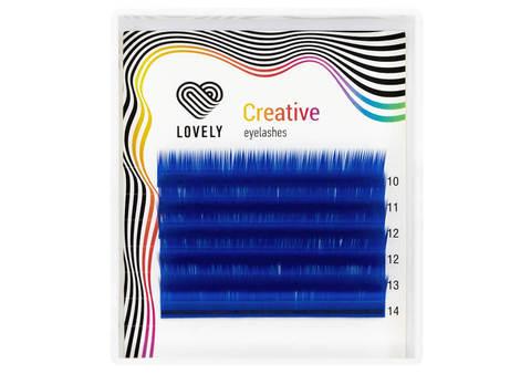 Ресницы синие (blue) Lovely MINI - 6 линий - MIX