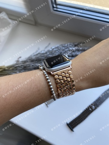 Ремешок Apple watch 38mm Honeycombs metall /gold/