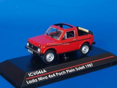 VAZ-2121 Lada Niva 4x4 Poch Plein Soleil convertible 1987 red 1:43 ICV046A