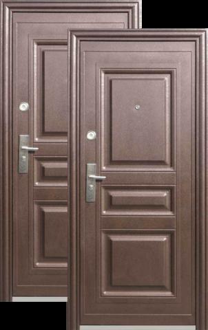 Дверь входная Кайзер К 703, 2 замка, 0,8 мм  металл, (медь антик+венге)