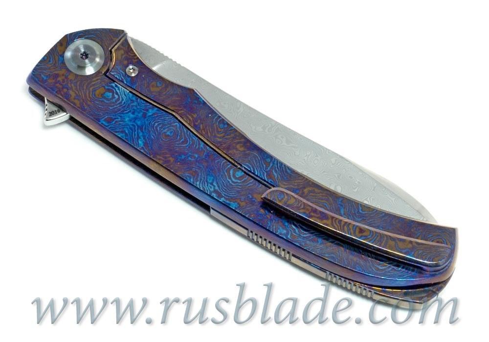 Cheburkov Frieze Damascus Folding Knife