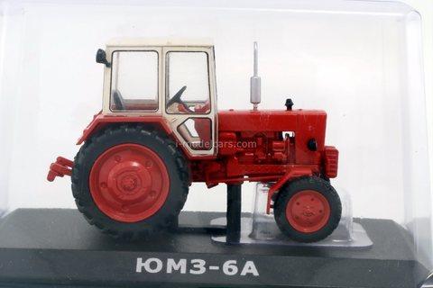 Tractor YuMZ-6AK (6A) red-white 1:43 Hachette #130