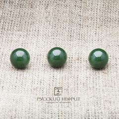 Шарик 10мм. Зелёный нефрит (класс бриле).