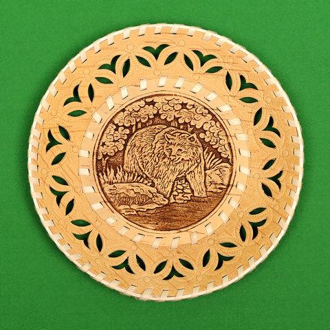 Тарелка круглая Медведь 2