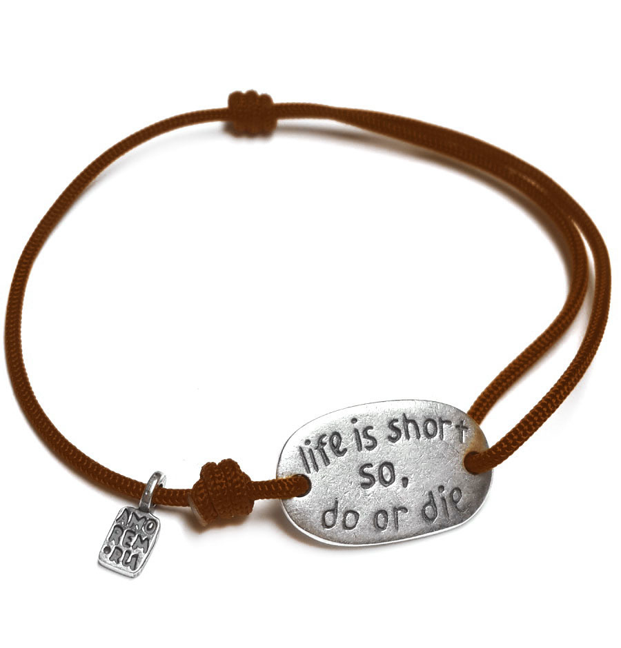 Life is short so do or die... sterling silver