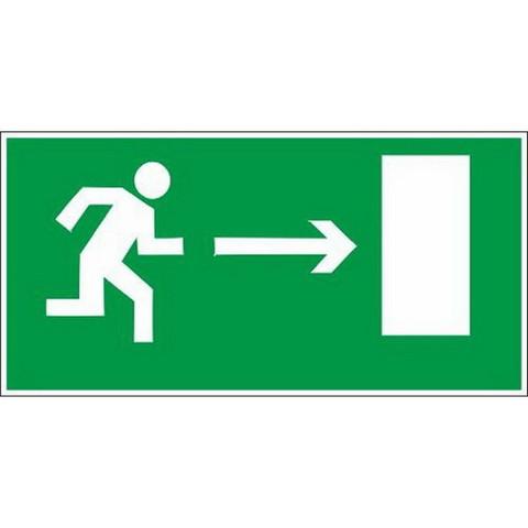E03 Направление к эвакуац.выходу направо (пленка ПВХ, ф/л.300х150), упаковка 10шт