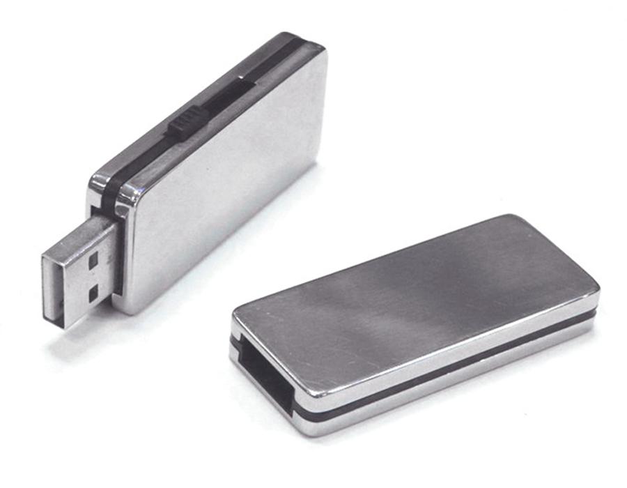 usb-флешка металлическая выдвижная